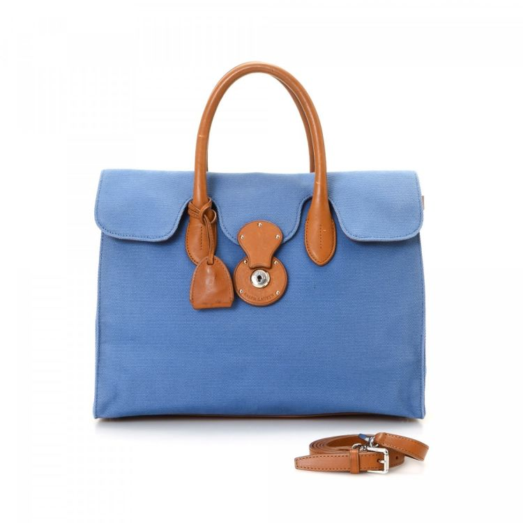 455e861dea3 This iconic tote comes in blue canvas. Due to the vintage nature of this  product