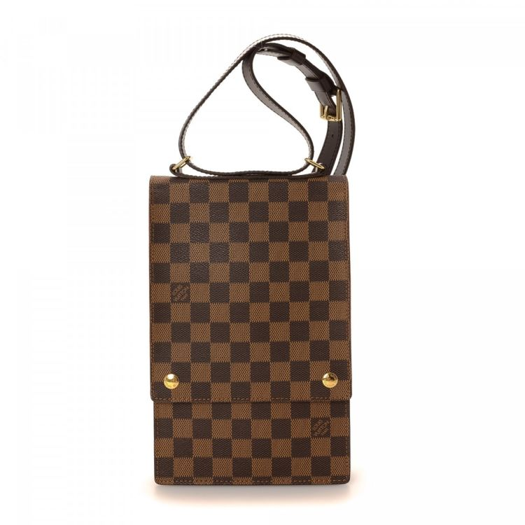 c0e5057bc866 ... vintage Louis Vuitton Portobello Crossbody Bag messenger   crossbody bag  is guaranteed by LXRandCo. This refined hobo bag was crafted in damier ebene  ...