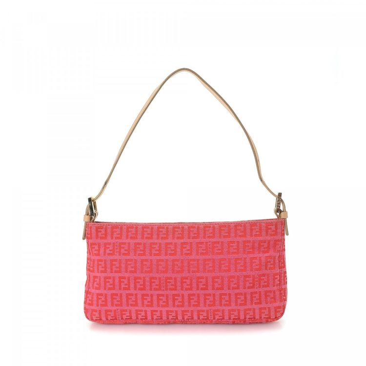 18a725d119 LXRandCo guarantees this is an authentic vintage Fendi handbag. This iconic  handbag was crafted in zucchino canvas in beautiful pink.