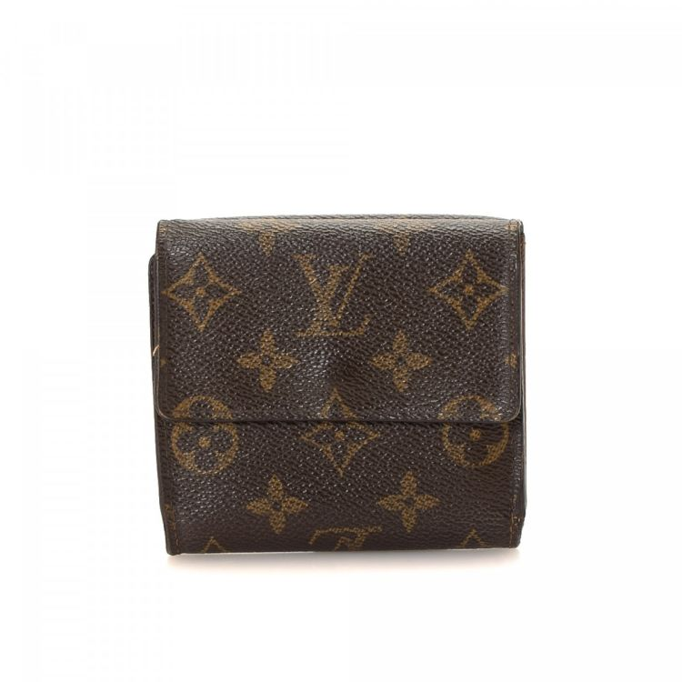 9ece489028d5 The authenticity of this vintage Louis Vuitton Elise wallet is guaranteed  by LXRandCo. This practical coin purse was crafted in monogram coated canvas  in ...