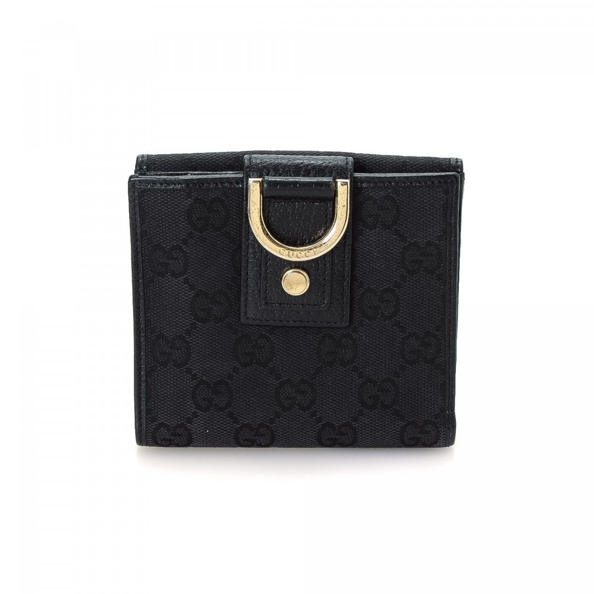 e4df6bd934fb Gucci Abbey Compact Wallet GG Canvas - LXRandCo - Pre-Owned Luxury Vintage Gucci  Continental Heart ...