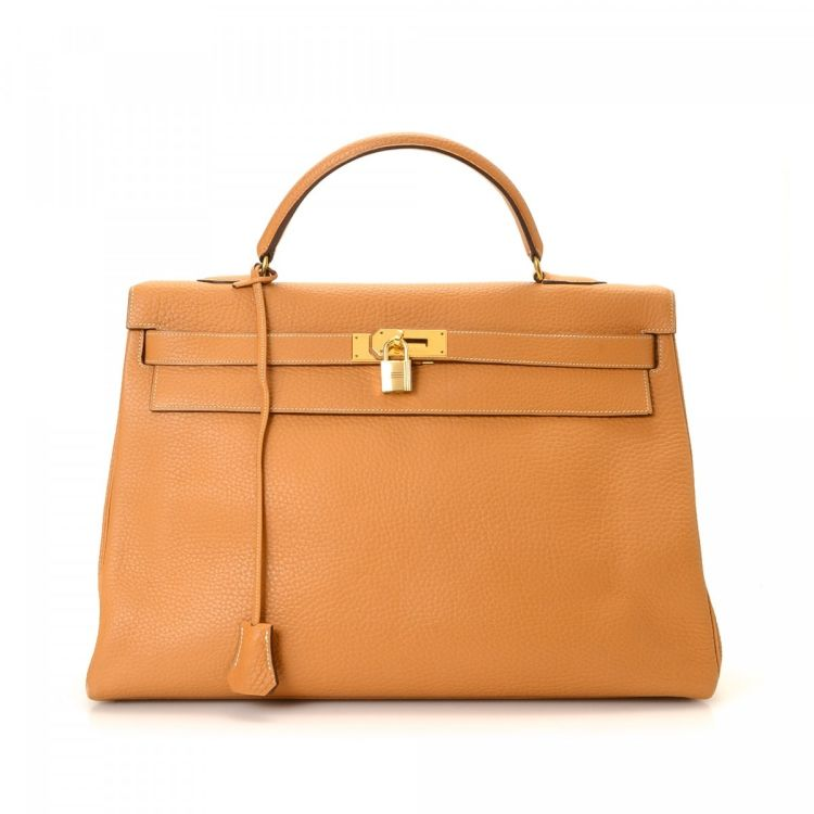 06c6e4e30ed5 ... canada hermès kelly 40 natural fjord ghw fjord calf lxrandco pre owned  luxury vintage 11f22 a9aee