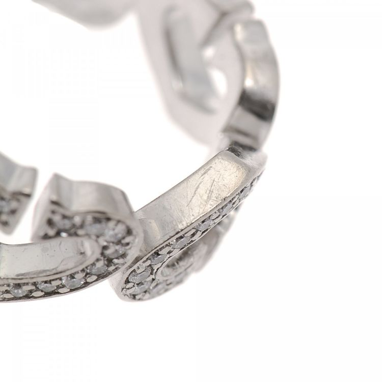 lxrandco guarantees the of this vintage cartier c heart diamond us 6fr 52 ring this ring was crafted in 18k white gold in white