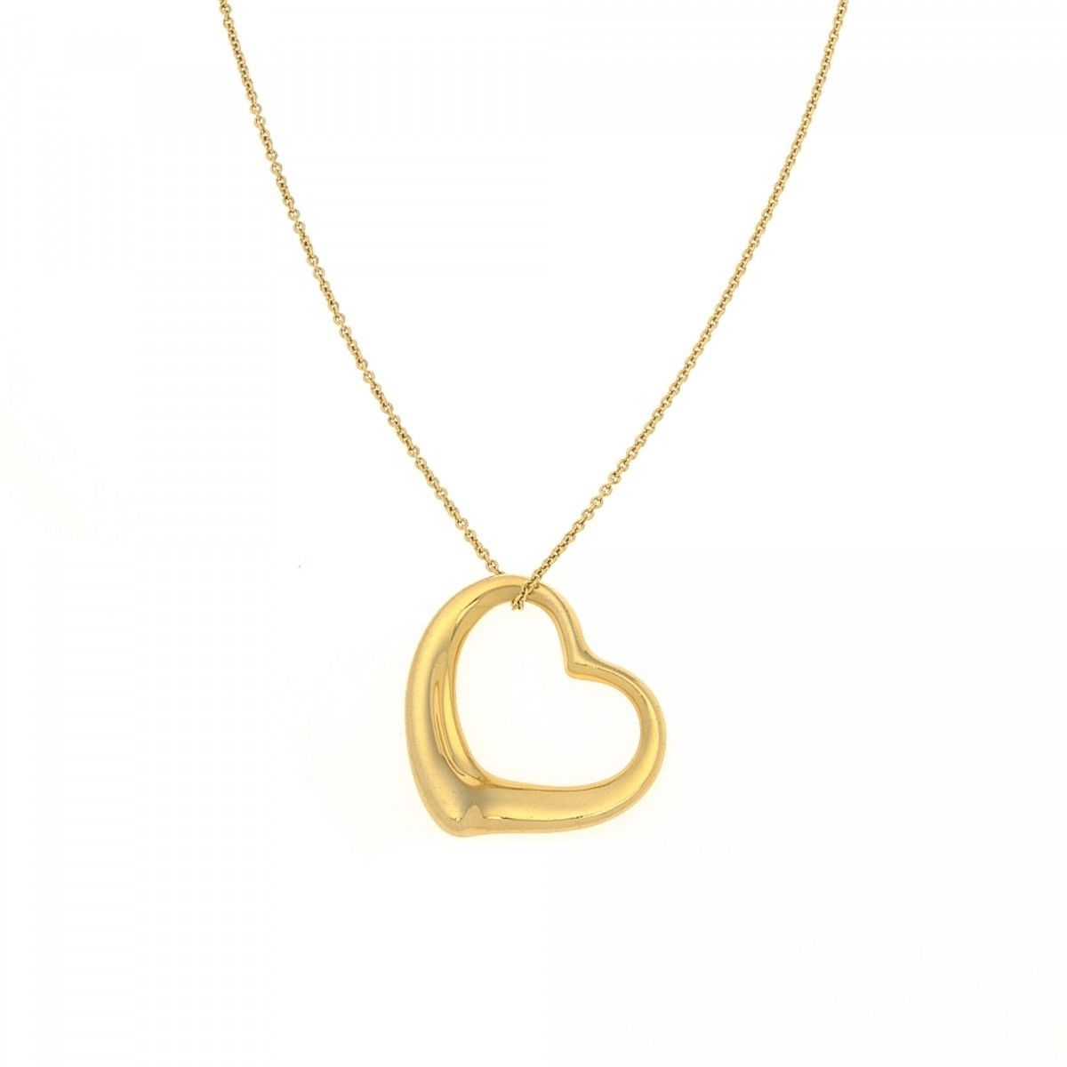 necklaces diamond open gold chain hinds l pendant heart and f rose diamonds