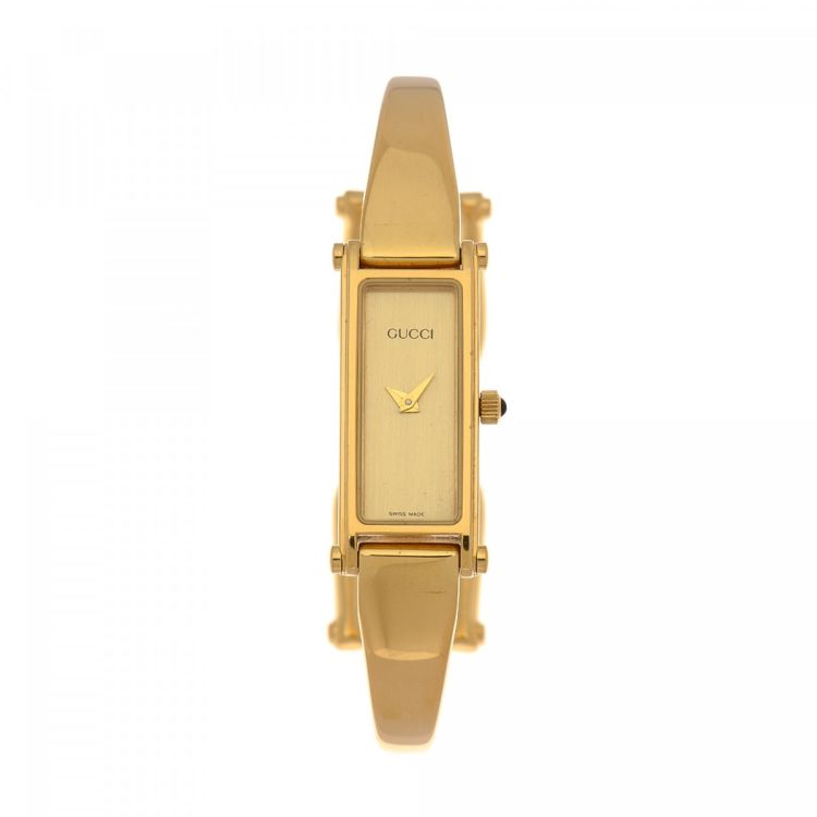 0b89ab45f1b LXRandCo guarantees this is an authentic vintage Gucci 1500 Timepiece 12mm  watch. This beautiful timepiece comes in gold 18k gold plated stainless  steel.