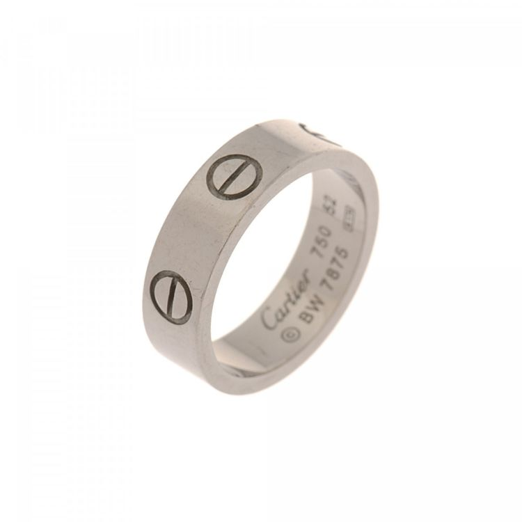 d4470c98461b Cartier Love Ring US 6 Fr 52 18K White Gold - LXRandCo - Pre-Owned ...