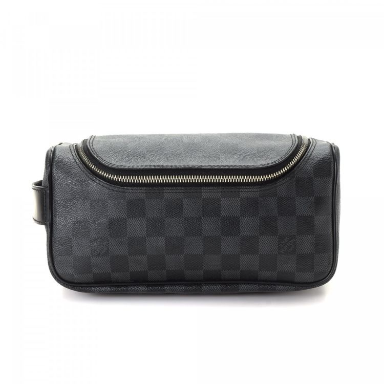 061bf51c6a83 Louis Vuitton Toiletry Pouch Damier Graphite Coated Canvas