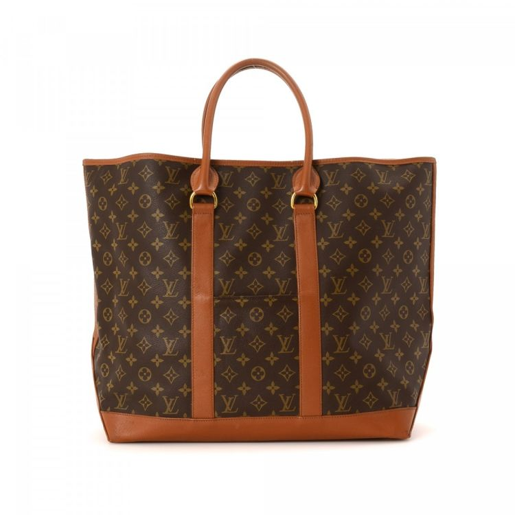 559a436a1778 ... vintage Louis Vuitton Sac Weekend GM travel bag is guaranteed by  LXRandCo. This refined baggage in beautiful brown is made in monogram  coated canvas.