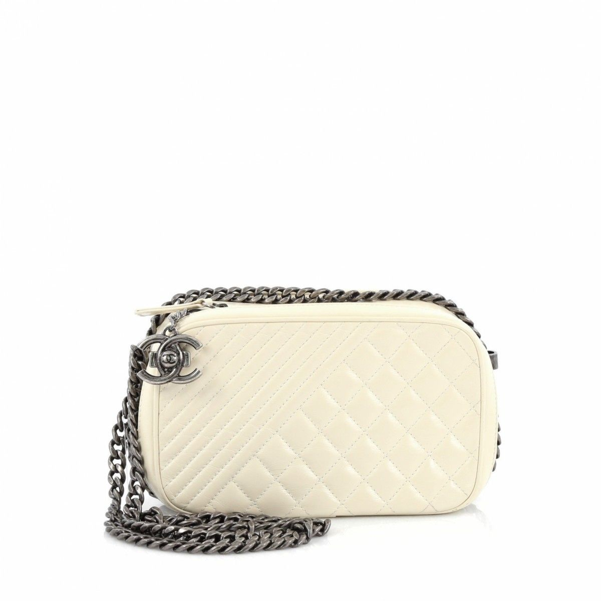 f00ea2d5fbe8d3 Chanel Coco Boy Camera Bag Quilted Leather Small - LXRandCo - Pre-Owned  Luxury Vintage