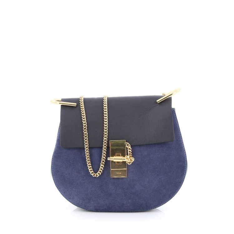 824beb92d9ce3 LXRandCo guarantees the authenticity of this vintage Chloé Drew Crossbody  Bag Leather and Suede Small handbag. Stylish handbag. Good condition* (AB)