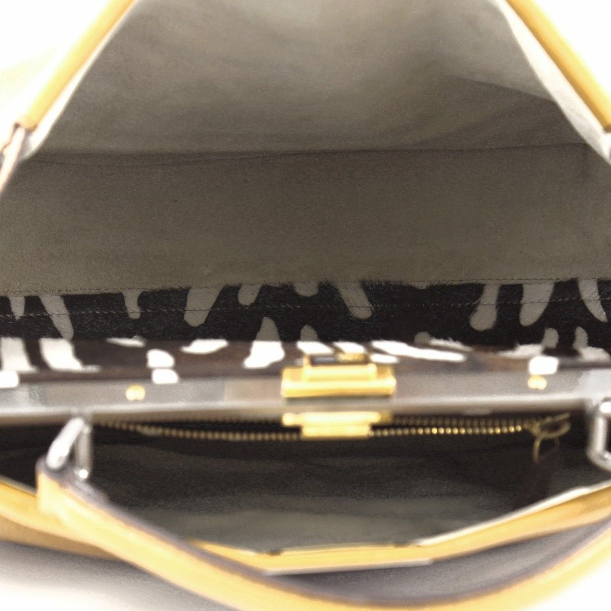98eeafbc Peekaboo Handbag Leather with Calf Hair Interior Large