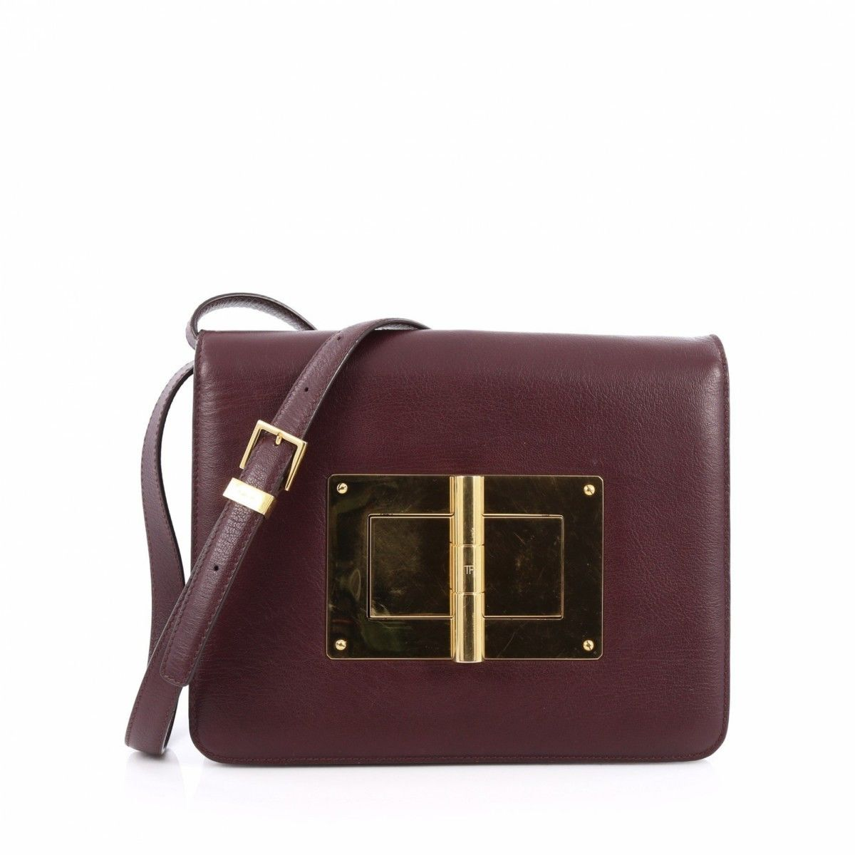 Tom Ford Natalia Convertible Clutch Leather Large 4TVRpk0