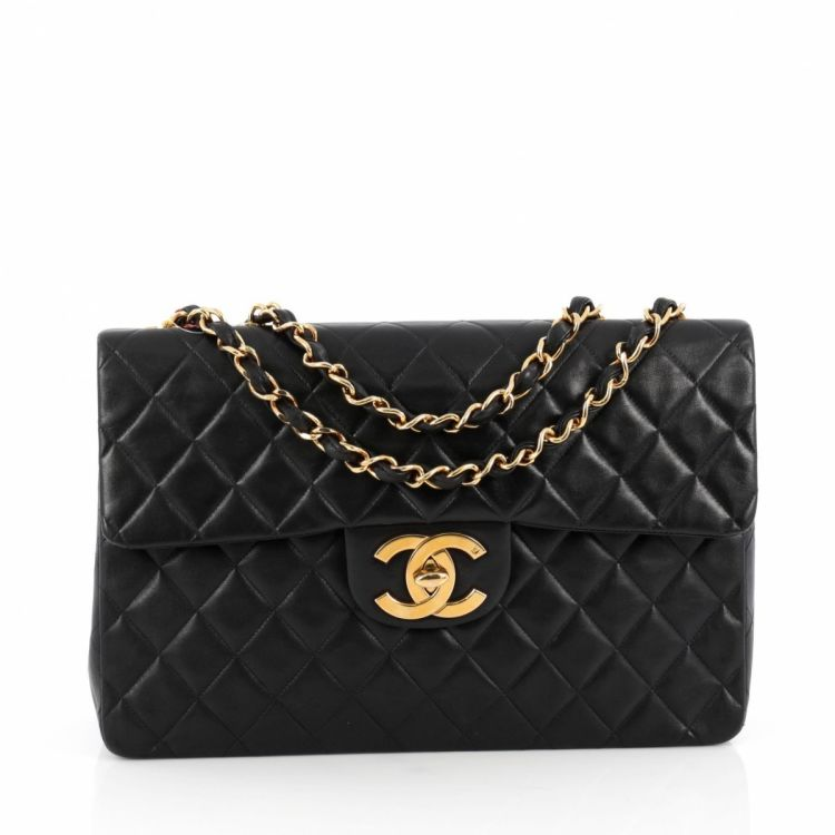 944e7ae32b1c92 Chanel Vintage Classic Single Flap Bag Quilted Lambskin Maxi ...