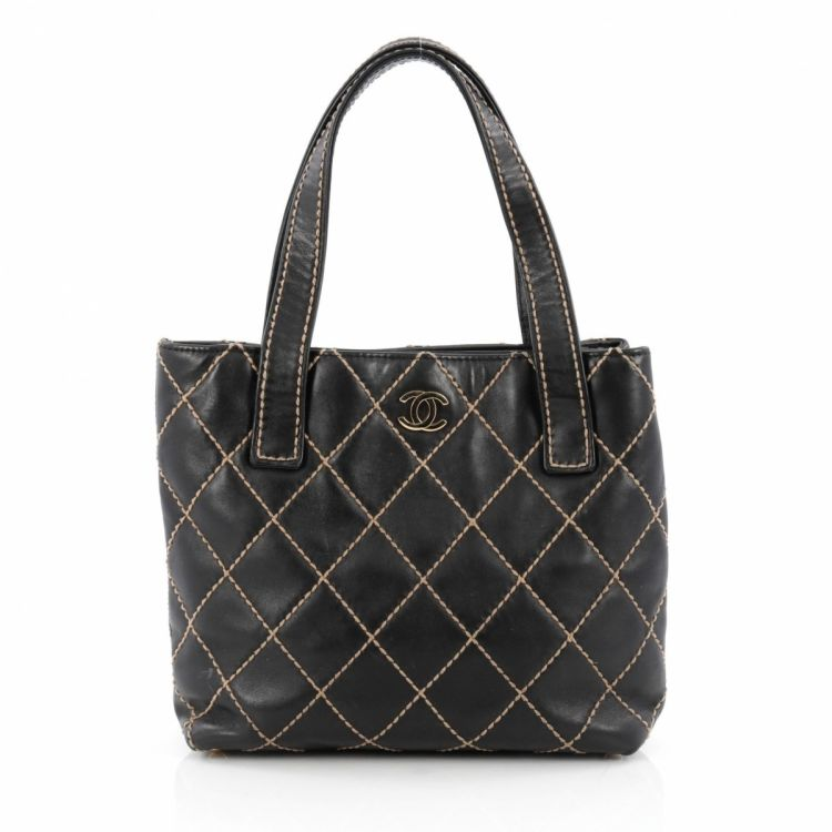 44cda6802aaca4 Chanel Surpique Tote Quilted Leather Medium - LXRandCo - Pre-Owned ...