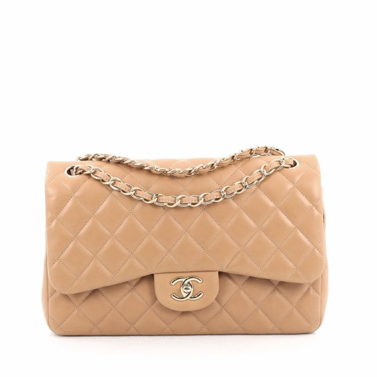 bb91aca16 Chanel Classic Double Flap Bag Quilted Lambskin Jumbo - LXRandCo ...