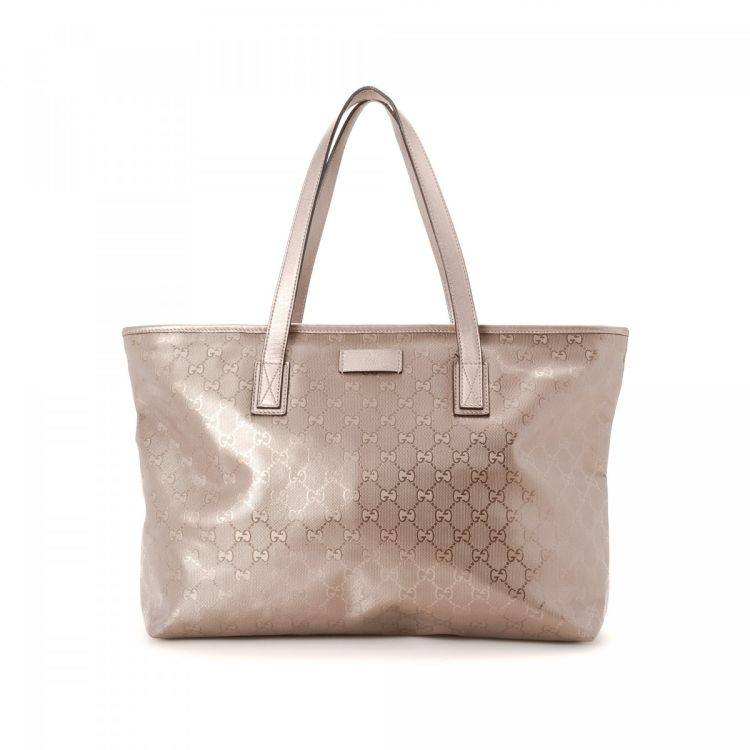 8156d81b7cd188 Gucci GG Imprime Tote GG Imprime Coated Canvas - LXRandCo - Pre-Owned  Luxury Vintage