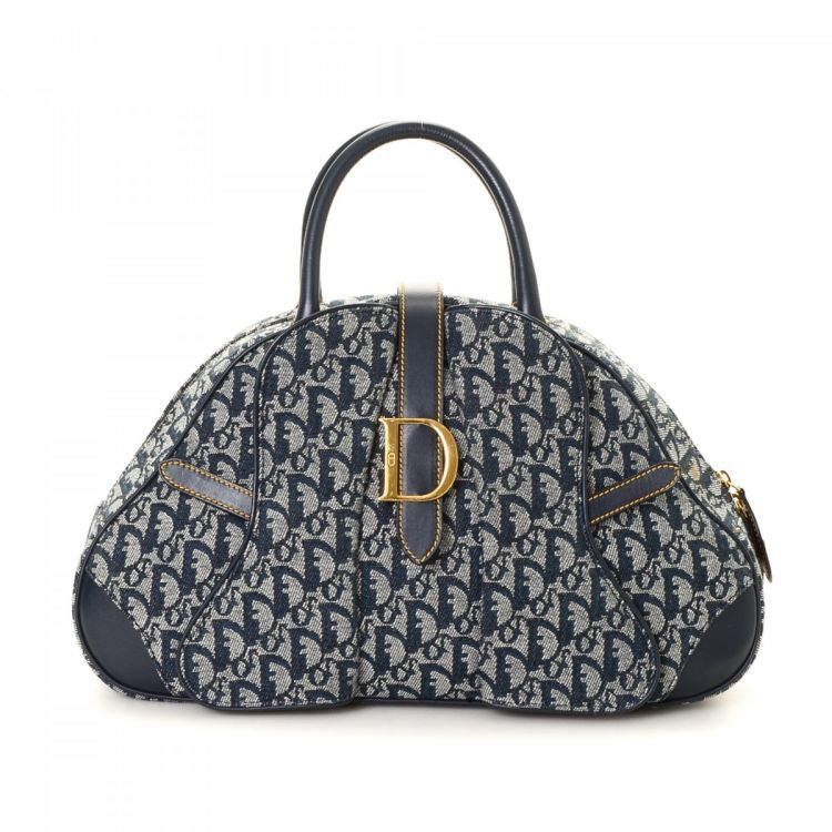 Dior Saddle Bowling Bag Trotter Canvas - LXRandCo - Pre-Owned Luxury ... 8a371d23e9