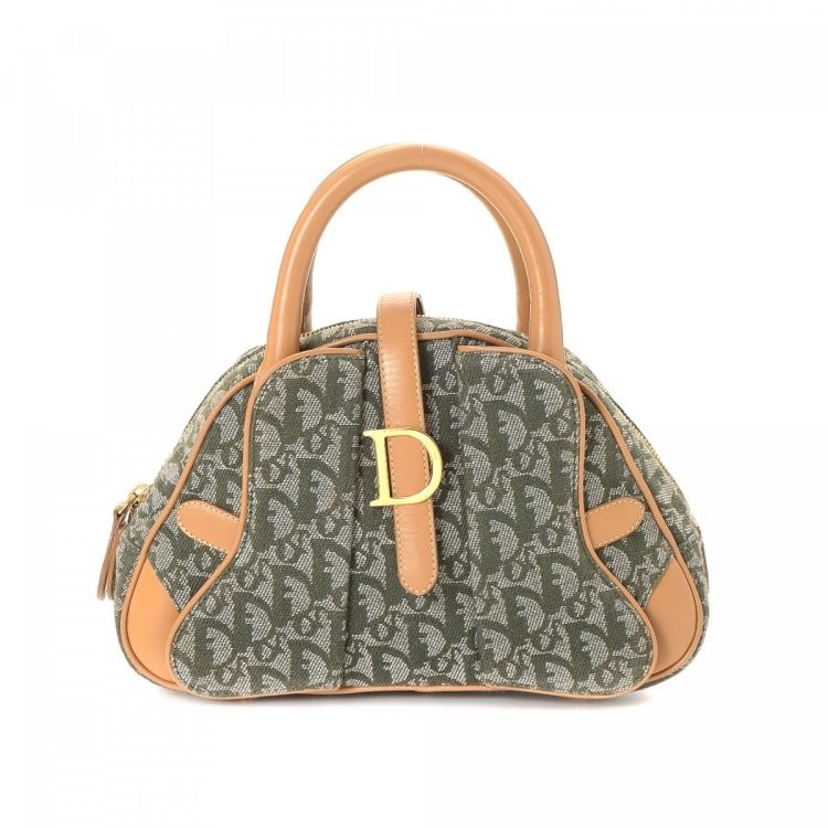 76426c12b LXRandCo guarantees this is an authentic vintage Dior Mini Double Saddle  bag handbag. Crafted in trotter canvas, this beautiful handbag comes in  green.