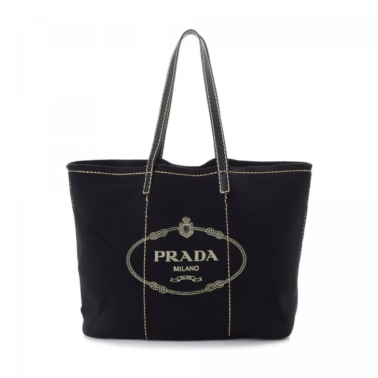 6d4191616b4a LXRandCo guarantees this is an authentic vintage Prada Bag tote. This chic  large handbag in black is made of neoprene. Due to the vintage nature of  this ...