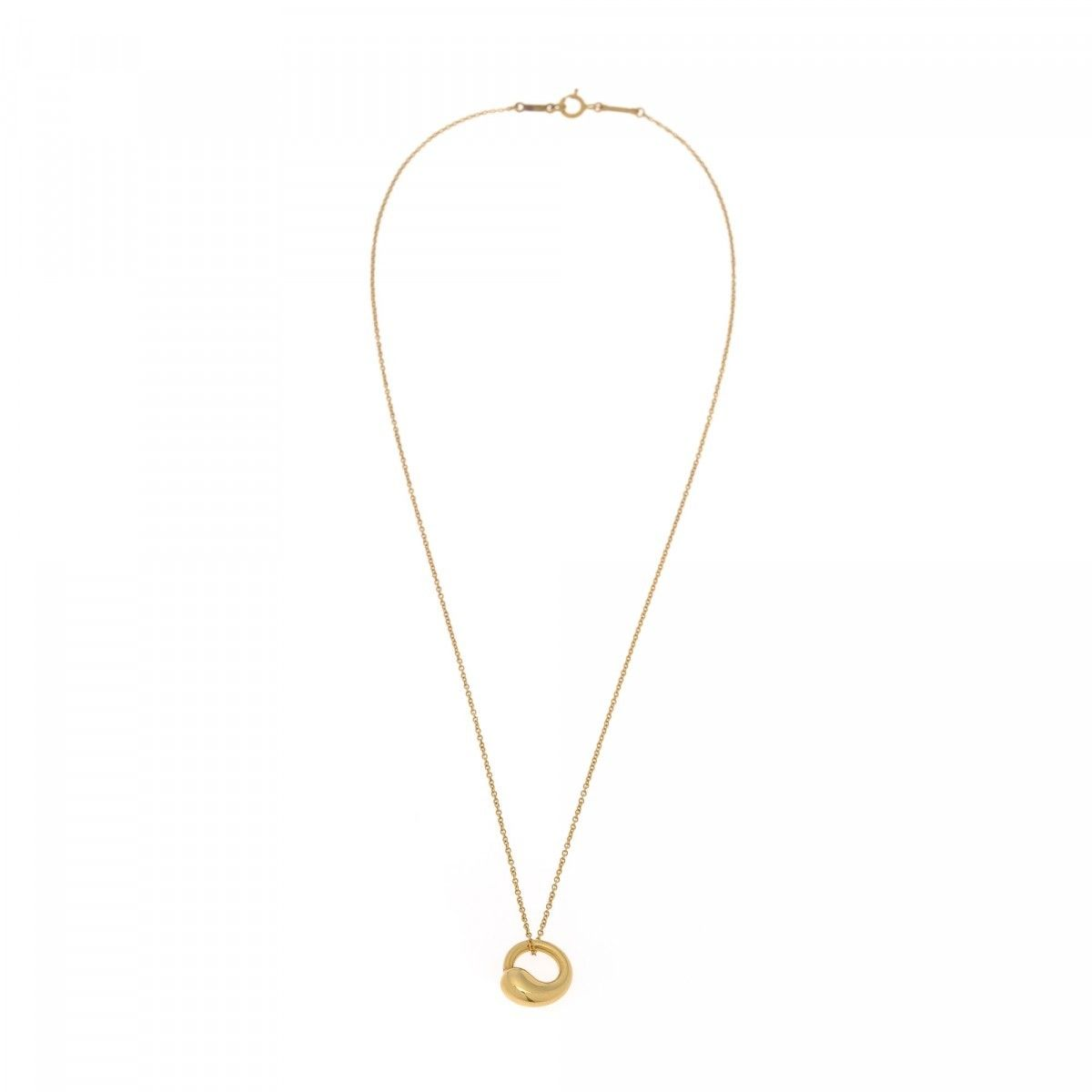 Tiffany elsa peretti eternal circle pendant necklace 40cm 18k gold elsa peretti eternal circle pendant necklace 40cm mozeypictures