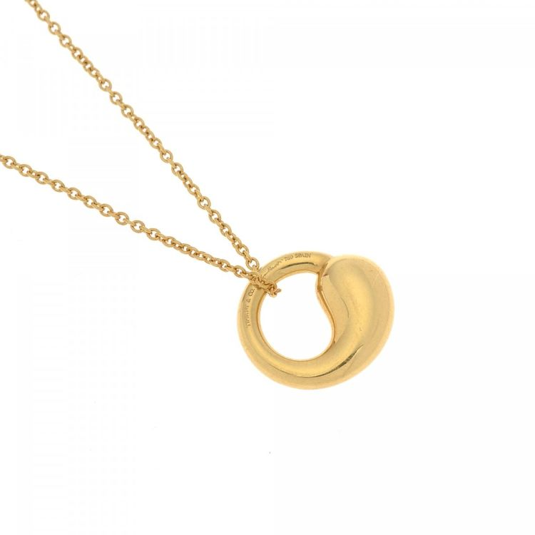 Tiffany elsa peretti eternal circle pendant necklace 40cm 18k gold lxrandco guarantees the authenticity of this vintage tiffany elsa peretti eternal circle pendant 40cm necklace this elegant pendant necklace was crafted in mozeypictures Image collections