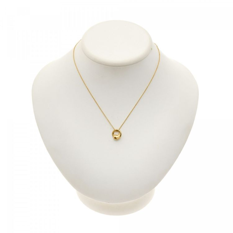 Tiffany elsa peretti eternal circle pendant necklace 40cm 18k gold lxrandco guarantees this is an authentic vintage tiffany elsa peretti eternal circle pendant 40cm necklace this exquisite pendant necklace was crafted in aloadofball Images