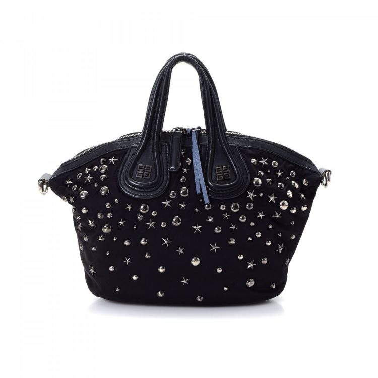 b1dcfcf9b39 ... Leather Super Mini Bag  quality design 719ad 38ed2 LXRandCo guarantees  this is an authentic vintage Givenchy Studded Nightingale handbag. ...