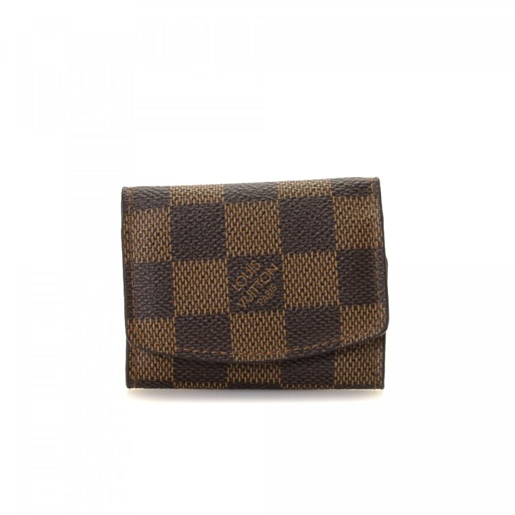 22acdd8b9747 LXRandCo guarantees the authenticity of this vintage Louis Vuitton Cufflinks  Case vanity case   pouch. This stylish makeup case in beautiful brown is  made ...