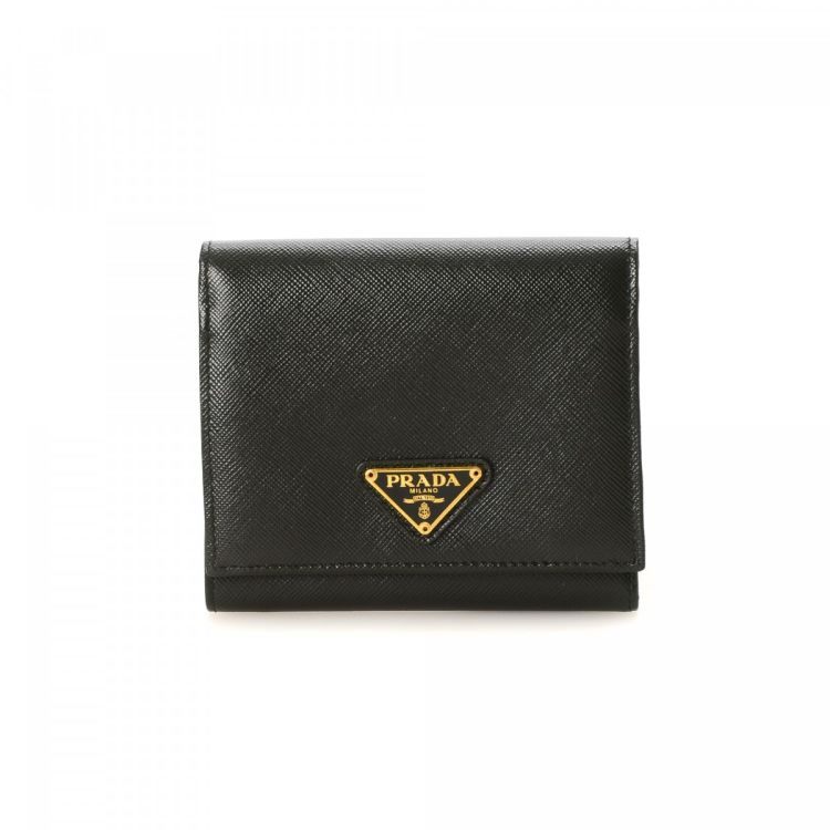 79c3673f8b4a ... low cost prada saffiano trifold wallet saffiano leather lxrandco pre  owned luxury vintage 0e8d8 83b55