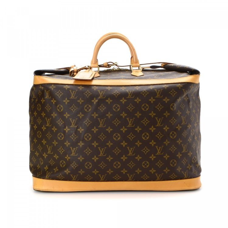 LXRandCo guarantees the authenticity of this vintage Louis Vuitton Cruiser  Bag 50 travel bag. This classic duffel bag in brown is made in monogram  coated ... 924a8e86e8