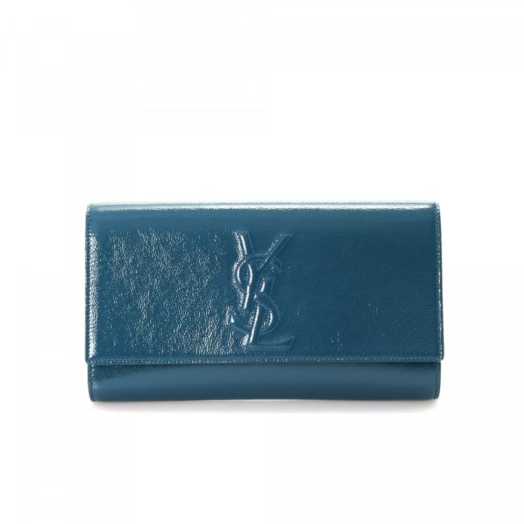 7b6debc2fc Yves Saint Laurent Clutch Bag Patent leather - LXRandCo - Pre-Owned ...