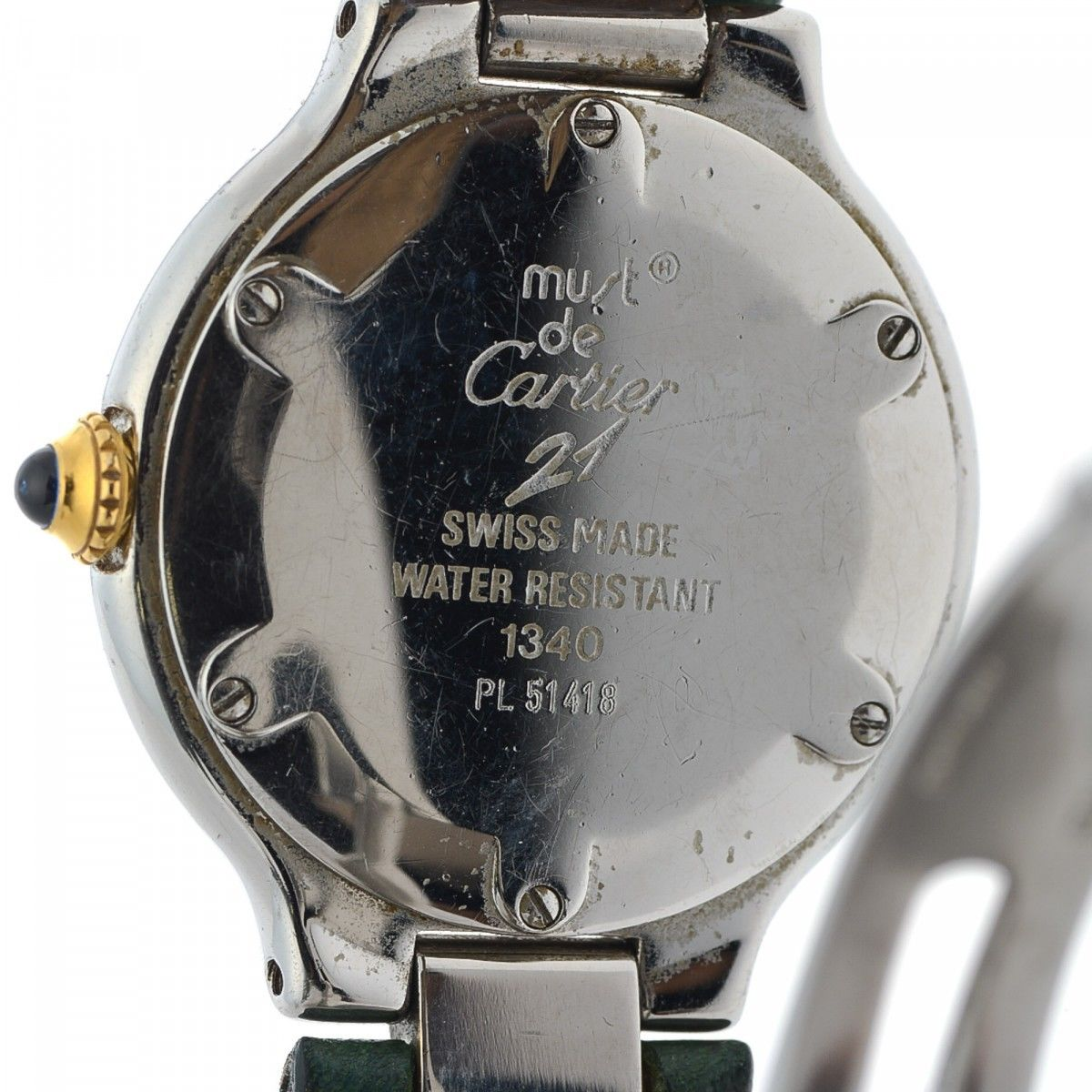 9fbea24f0d41 Cartier 21 Must de Cartier 24mm 1340 Stainless steel and 18K gold ...