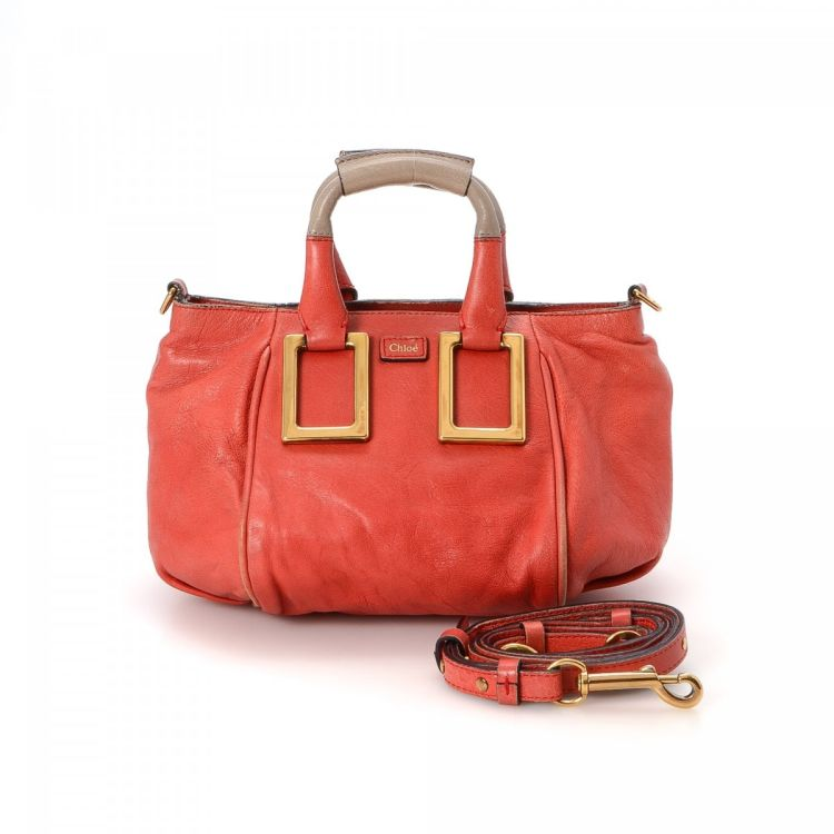 59db61220b Chloé Ethel Two Way Bag Leather - LXRandCo - Pre-Owned Luxury Vintage