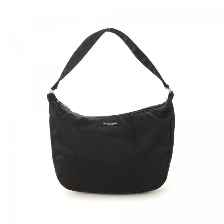 The Authenticity Of This Vintage Kate Spade Shoulder Bag Handbag Is Guaranteed By Lxrandco Refined Pocketbook Was Crafted In Nylon Black