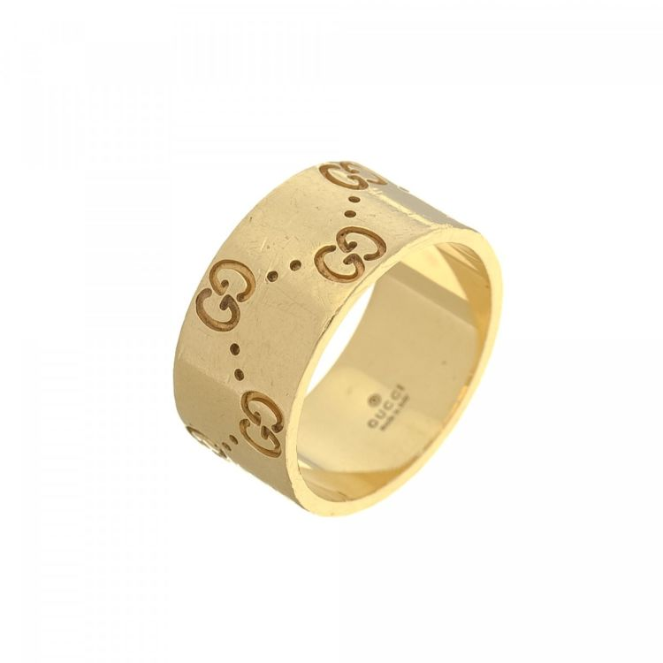 ccf3c6819 Gucci Icon Gold Ring US 6.25/It 13 18K Yellow Gold - LXRandCo - Pre ...