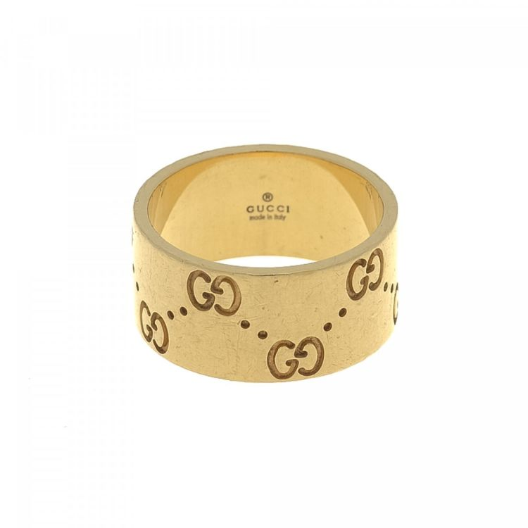 Gucci Icon Gold Ring US 6 25 It 13 18K Yellow Gold LXRandCo
