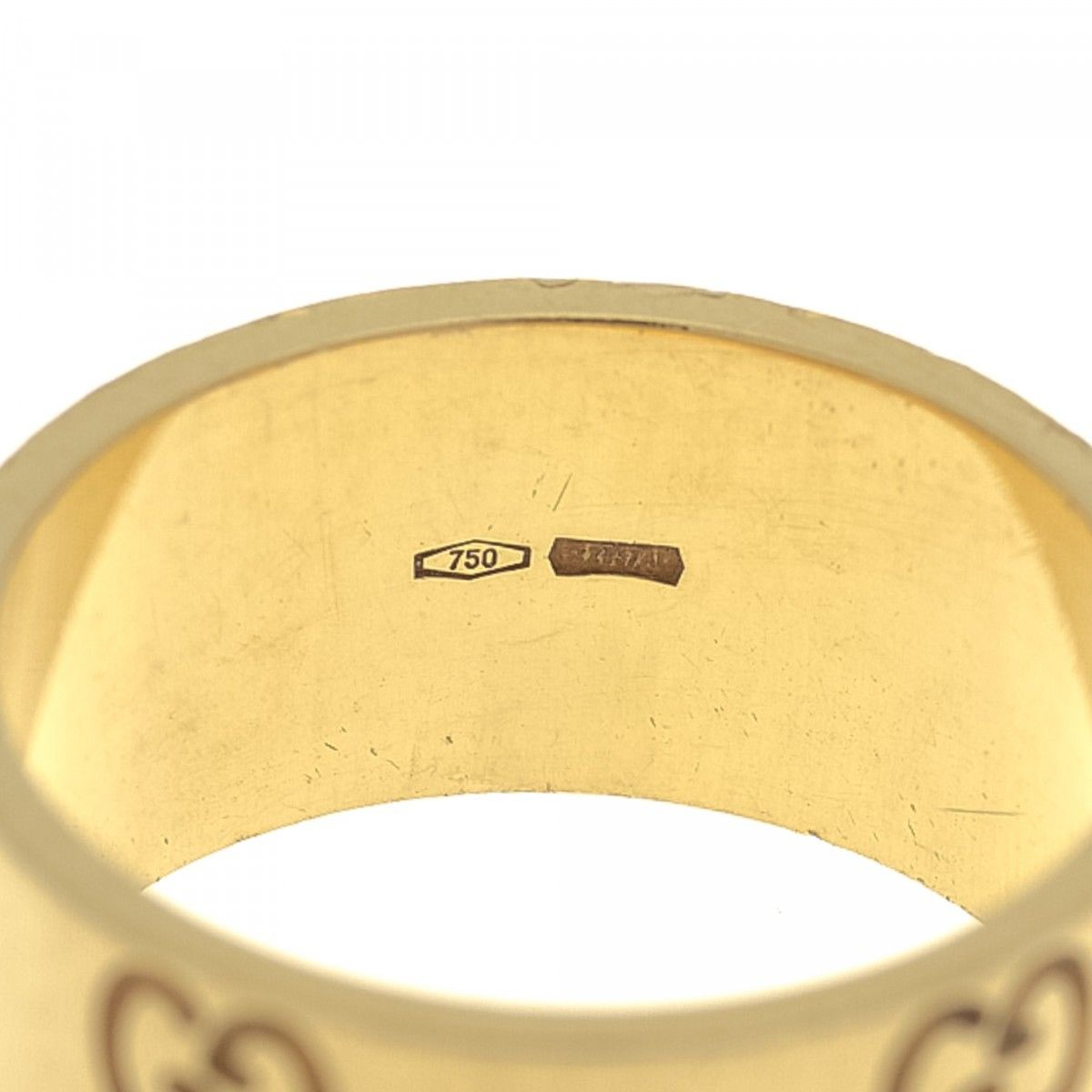 1c507c732 Gucci Icon Gold Ring US 6.25/It 13 18K Yellow Gold - LXRandCo - Pre ...