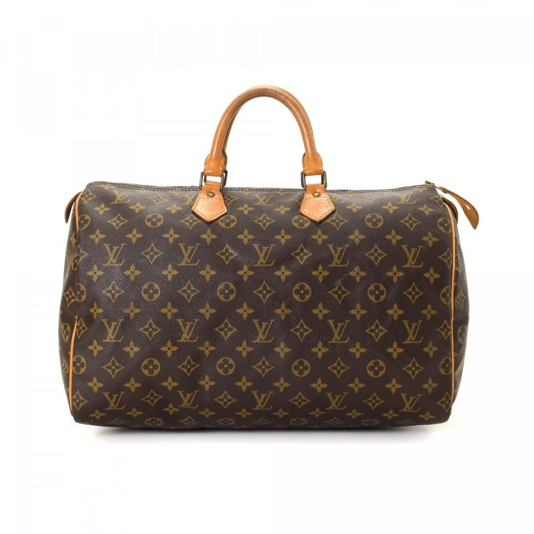 57681484400a The authenticity of this vintage Louis Vuitton Speedy 40 handbag is  guaranteed by LXRandCo. This stylish purse in beautiful brown is made in monogram  coated ...
