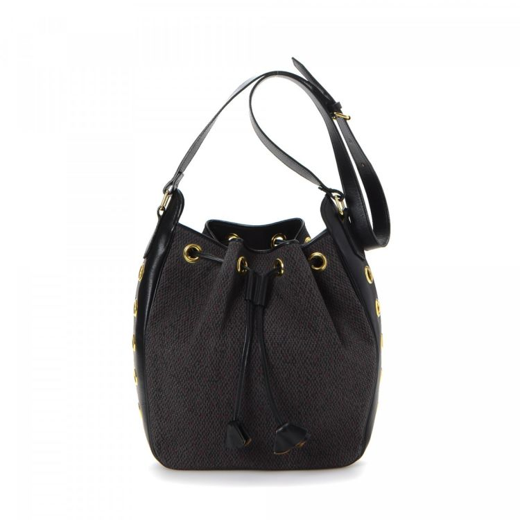 b4f7a352d6f LXRandCo guarantees the authenticity of this vintage Yves Saint Laurent  Drawstring Bucket Bag shoulder bag. This luxurious shoulder bag in black is  made of ...