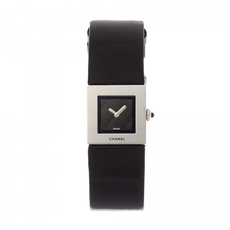 Chanel Matelasse Watch 19mm Silver Tone Stainless Steel Watches
