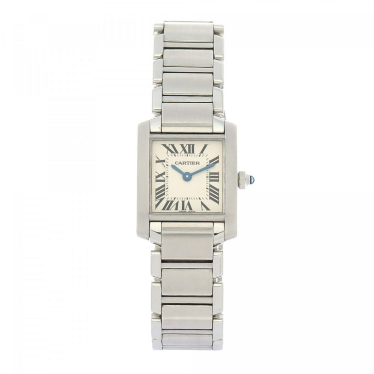 40c2f3d270b6 The authenticity of this vintage Cartier Tank Francaise 20mm 2384 watch is  guaranteed by LXRandCo. This refined watch comes in silver tone stainless  steel.