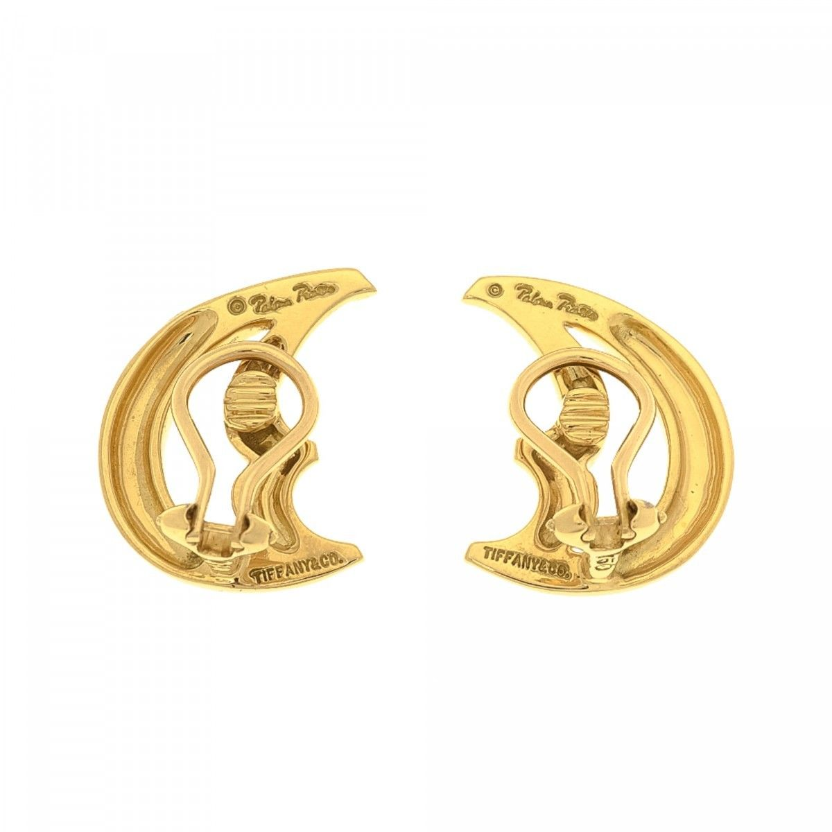 198a2288ad3a Tiffany Paloma Picasso Moon Clip-on Earrings 18K Gold - LXRandCo ...