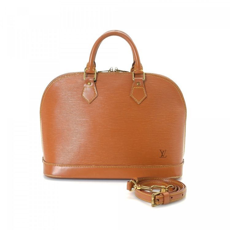 6e980d5db5d6 LXRandCo guarantees this is an authentic vintage Louis Vuitton Alma PM  handbag. This classic bag was crafted in epi leather in cannelle.