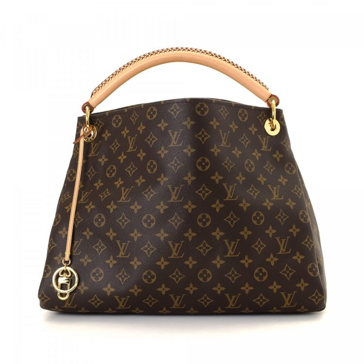 The authenticity of this vintage Louis Vuitton Artsy MM shoulder bag is  guaranteed by LXRandCo. This everyday shoulder bag was crafted in monogram  coated ... 94cc155a96a