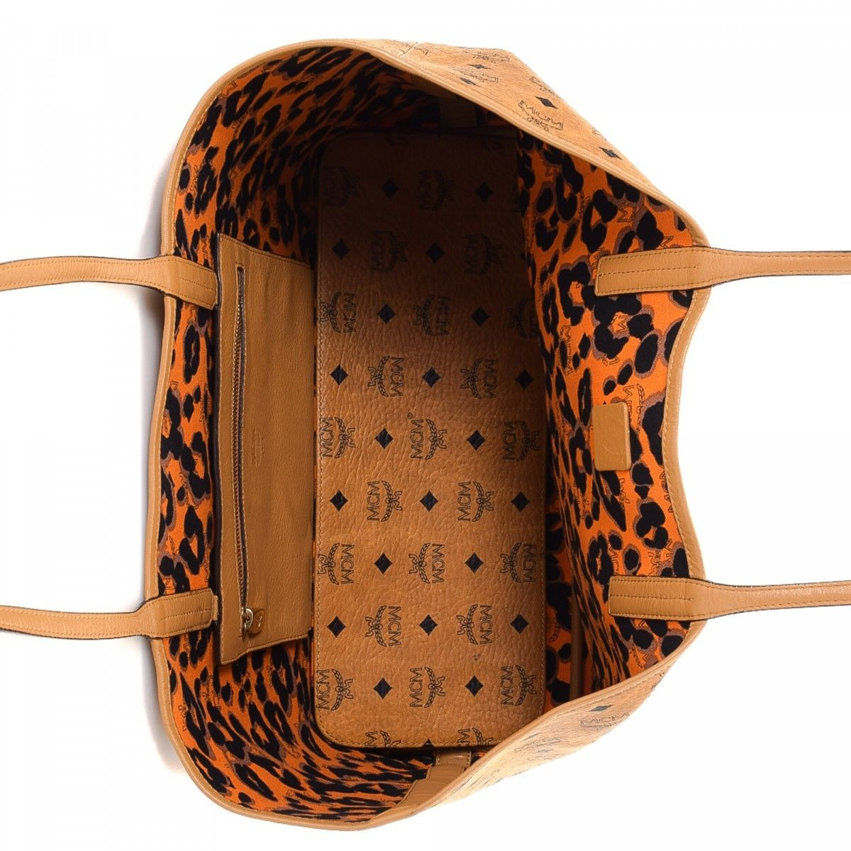 84a5788a954a MCM Leopard Print Reversible Tote. LXRandCo guarantees this is an authentic  vintage MCM Leopard Print Reversible tote. Crafted in visetos coated canvas  ...