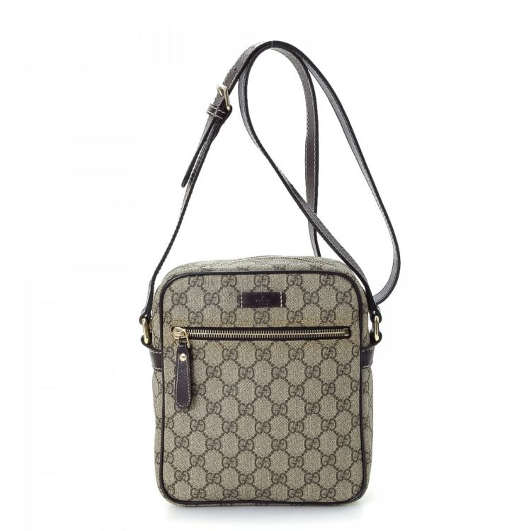 6c61767b36ca LXRandCo guarantees this is an authentic vintage Gucci Crossbody Bag  messenger & crossbody bag. Crafted in gg supreme coated canvas, this classic  crossbody ...
