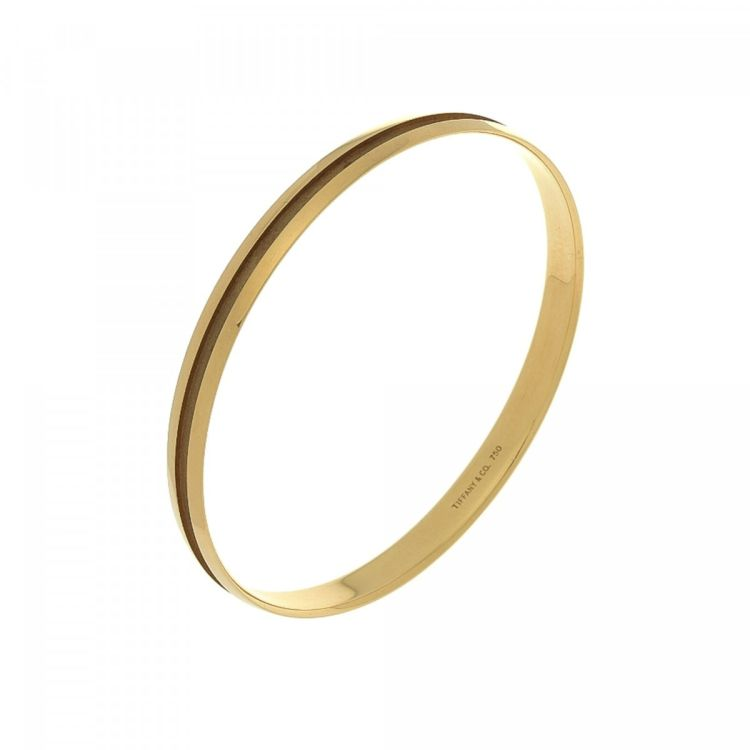 Tiffany Bangle 20cm 18k Yellow Gold Lxrandco Pre Owned Luxury Vintage