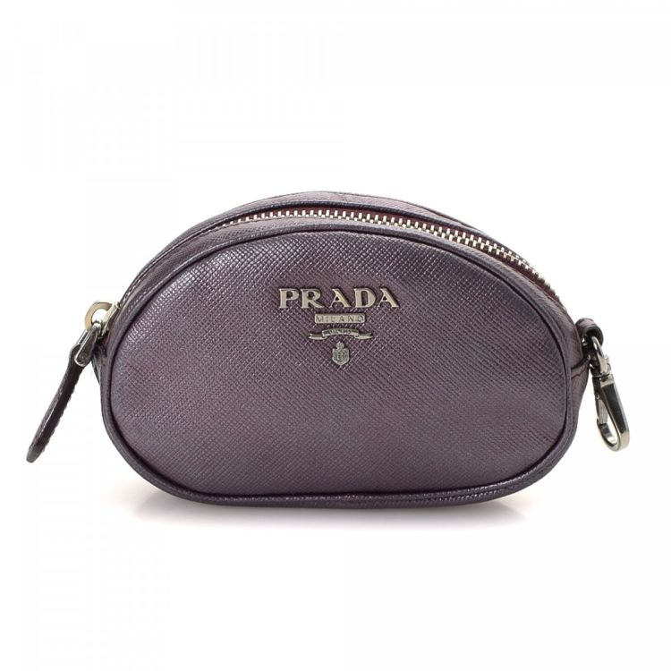 7efe475c8e1d Prada Coin Purse Saffiano Leather - LXRandCo - Pre-Owned Luxury Vintage