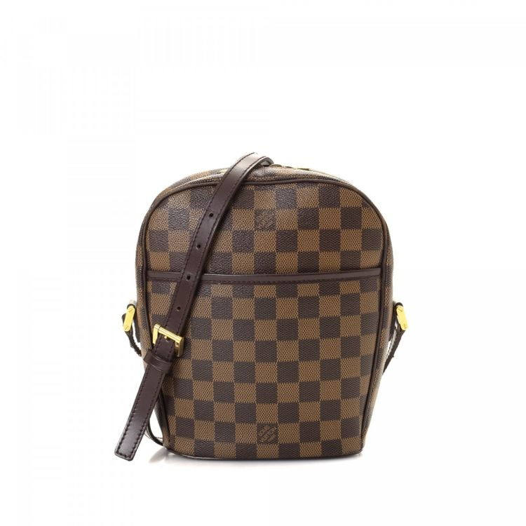 21047f2c4b053 LXRandCo guarantees this is an authentic vintage Louis Vuitton Ipanema PM  messenger   crossbody bag. This iconic hobo bag was crafted in damier ebene  coated ...