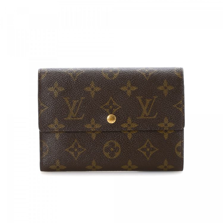 b261fe9b4d278 LXRandCo guarantees this is an authentic vintage Louis Vuitton Porte Tresor  Etui Papier wallet. This refined card case in brown is made in monogram  coated ...